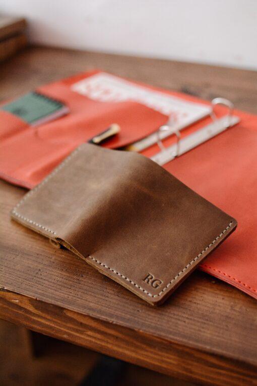 handmade leather wallet