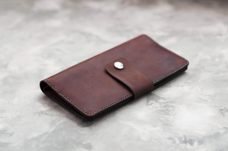 b75e99e60bece Leather travel wallet Leather wallet men Mens long wallet Wallet card ...